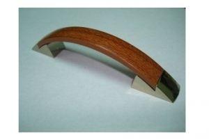 Ручка скоба №27 золото/светлый орех (250*) - Оптовый поставщик комплектующих «Виком»