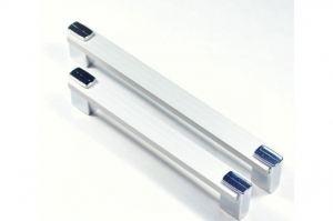 Ручка скоба RS-128-02, хром Metax - Оптовый поставщик комплектующих «Виком»