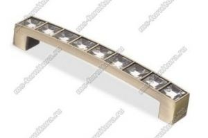 Ручка-скоба со стразами 96 мм бронза CRL 02 BA - Оптовый поставщик комплектующих «Модерн-Стиль А»
