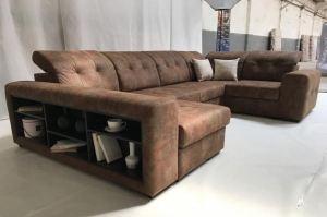 С полками диван Таити - Мебельная фабрика «Ангажемент»