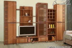 Стенка в гостиную Сафари-3 - Мебельная фабрика «Дара»