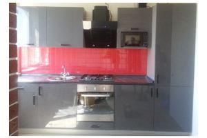 Серая лаковая кухня - Мебельная фабрика «Самеко»