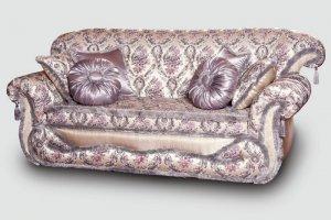 Серебристый прямой диван Палермо - Мебельная фабрика «DONKO»