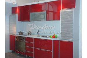 Серо-красная кухня - Мебельная фабрика «Дельфин»