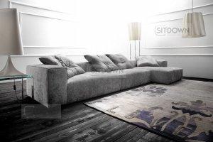 Серый большой диван Дилан - Мебельная фабрика «Sitdown», г. Москва