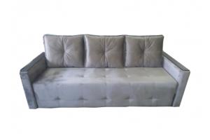 Серый прямой диван  - Мебельная фабрика «МебельБренд»
