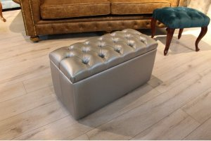 Серый пуф Диаманд - Мебельная фабрика «ChesterStyle»