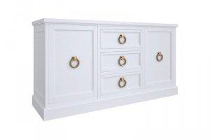 Широкий белый комод E147-W-G - Мебельная фабрика «Kreind» г. Химки