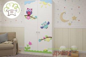 Шкаф 2-х створчатый детский Совята - Мебельная фабрика «Дубок»