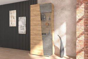 Шкаф 2-створчатый со стеклом Аллегро 10 - Мебельная фабрика «ДИАЛ»