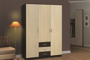 Шкаф 291 венге-линдберг - Мебельная фабрика «Олмеко»