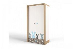 Шкаф 2х дверный MIX Bunny blue - Мебельная фабрика «ABC King»