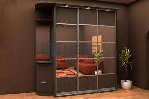Шкаф 3-х дверный 2200 навесная система - Мебельная фабрика «ITF Mebel»