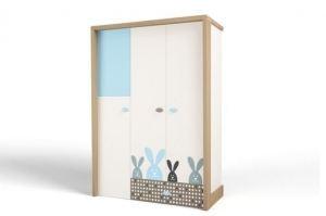 Шкаф 3х дверный MIX Bunny blue - Мебельная фабрика «ABC King»