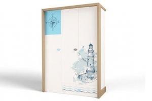 Шкаф 3х дверный MIX Ocean - Мебельная фабрика «ABC King»