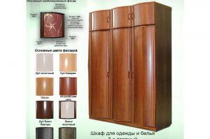 Шкаф 3х-дверный с антресолями - Мебельная фабрика «КрайМебель-Краснодар»