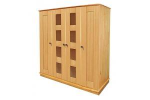 Шкаф 4-х дверный Ландхаус 2 из сосны - Мебельная фабрика «Зеленая Сосна»
