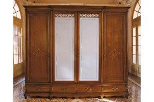 Шкаф 4-х створчатый Intarsio со стеклом - Мебельная фабрика «Артим»