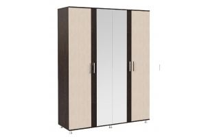 Шкаф 4-х створчатый с зеркалом Комфорт - Мебельная фабрика «Мастер-Мебель»