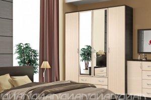 Шкаф 4-створчатый Кэт -7 - Мебельная фабрика «Диал»