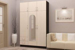 Шкаф с зеркалом Бланка - Мебельная фабрика «Д.А.Р. Мебель»