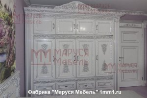 Шкаф большой белый распашной - Мебельная фабрика «Маруся Мебель»