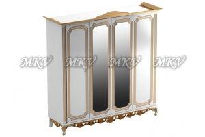 Шкаф четырехстворчатый с зеркалом - Мебельная фабрика «Выбор»