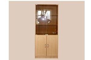 Шкаф для документов со стеклом - Мебельная фабрика «Мартис Ком»