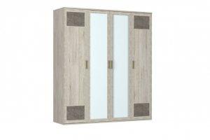 Шкаф для одежды-04 фасады 2 глухих 2 зеркало Kantri - Мебельная фабрика «Ваш День»