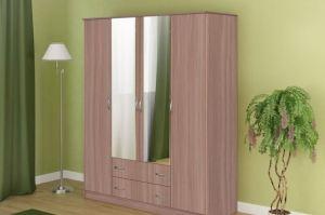 Шкаф для одежды 4-х дверный - Мебельная фабрика «Гранд-Мебель»