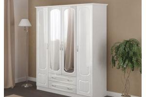 Шкаф для одежды 4-х дверный МДФ - Мебельная фабрика «Гранд-Мебель»