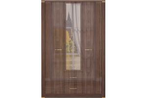 Шкаф для одежды с зеркалом Париж 1 - Мебельная фабрика «Ижмебель»