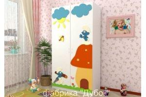 Шкаф для одежды Смурфы - Мебельная фабрика «Дубок»
