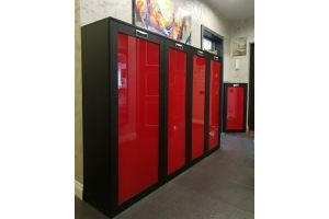 Шкаф глянцевый красный - Мебельная фабрика «Красивый Дом»