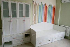 Шкаф и кровать Артдеко в детскую - Мебельная фабрика «Красивый Дом»