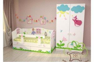 Шкаф и кровать Принцесса - Мебельная фабрика «Дубок»