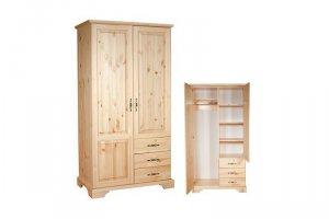 Шкаф из массива сосны Б-1 - Мебельная фабрика «Мебель Мастер»