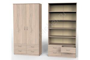 Шкаф Карат с 4мя ящиками и полками - Мебельная фабрика «Алтай-Командор»