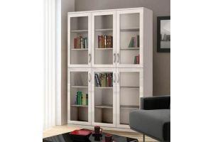 Шкаф книжный большой Моне белый - Мебельная фабрика «Фаворит»