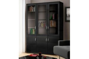 Шкаф книжный большой Моне венге - Мебельная фабрика «Фаворит»