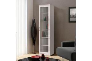 Шкаф книжный Моне белый 1.1 - Мебельная фабрика «Фаворит»