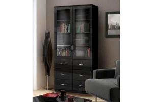 Шкаф книжный Моне 2х створчатый 6 ящиков - Мебельная фабрика «Фаворит»