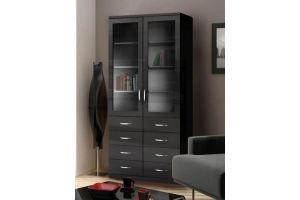 Шкаф книжный Моне 2х створчатый 8 ящиков - Мебельная фабрика «Фаворит»