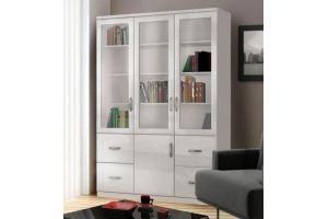 Шкаф книжный Моне белый 3.5 - Мебельная фабрика «Фаворит»