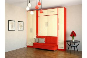 Шкаф-кровать с диваном Бела 5 - Мебельная фабрика «Деталь Мастер»