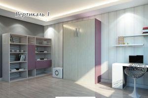 Шкаф-кровать Вертикаль 1 - Мебельная фабрика «ГЕЛИОН»