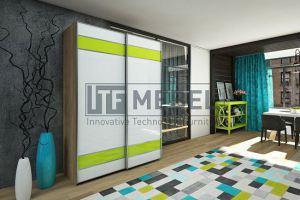 Шкаф купе 2-х дверный подвесная система - Мебельная фабрика «ITF Mebel»
