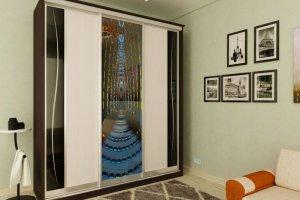 Шкаф-купе с рисунком - Мебельная фабрика «Рестайл»