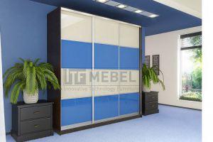 Шкаф купе 3-х дверный со вставками 2200 - Мебельная фабрика «ITF Mebel»