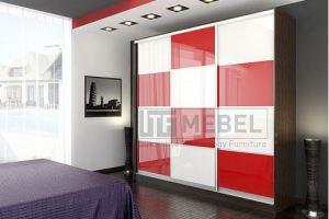 Шкаф купе 3-х дверный со вставками 2400 - Мебельная фабрика «ITF Mebel»